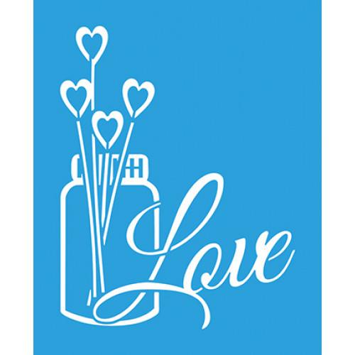 Stencil Vidro Love Aromatizador - 17x21
