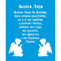 Stencil Santo Anjo e Anjinhos - 17x21..