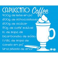 Stencil Café Capuccino 17x21 cm..