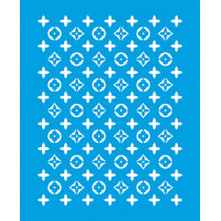 Stencil Textura Flores 17x21 cm..