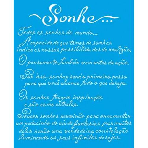 Stencil Texto Sonhe - 17x21