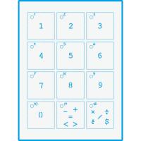 Stencil Mini - Números 02 - 17x21 - stmi..