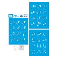 Stencil Mini 2 - Alfabeto Lettering - 17..