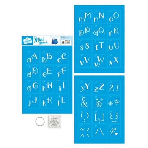 Stencil mini 2 - alfabeto lettering