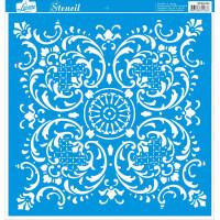 Stencil Azulejo de arabesco - 30x30 cm ..