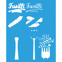 Stencil Massa Fusilli Sobreposição - 20x..