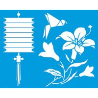 Stencil Lanterna japonesa, origami - 20x..