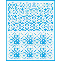 Stencil Estampa Azulejo - 20x25 cm..