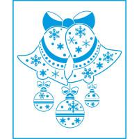 Stencil Natal - Sinos e Bolas - 20x25 cm..