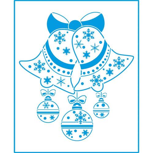 Stencil Natal - Sinos e Bolas - 20x25 cm