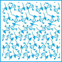 Stencil Arabesco com Folhas e Flores - 2..