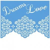Stencil Bicos de Renda Dream Love 20x20..
