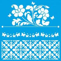Stencil Flores, Azulejos portugueses - 2..