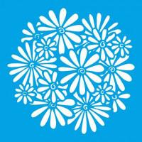 Stencil Estampa de Margaridas - 20x20cm..