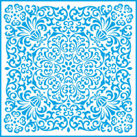 Stencil Folhas Tropicais - Ornamentos Fl..