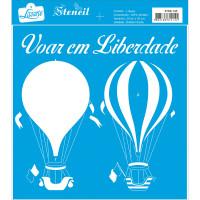 Stencil Balões de ar quente - Sobreposiç..