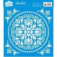 Stencil Azulejo 01 - 20x20..