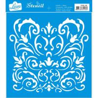 Stencil Arabescos - 20x20 cm..