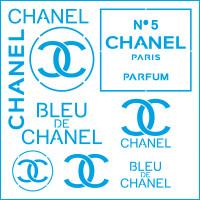 Stencil Chanel - 20x20..