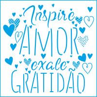 Stencil Inspire Amor - 20x20..