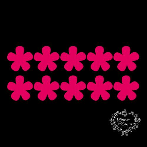 Kit Recortes Flores - 10 Peças - 40PP - Rosa Pink