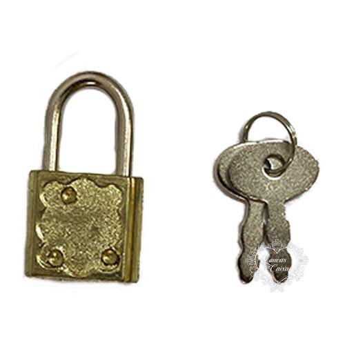 Cadeado - 3,4 x 1,9 cm - Dourado