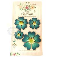 Flores Amorecas - Amora - Azul..