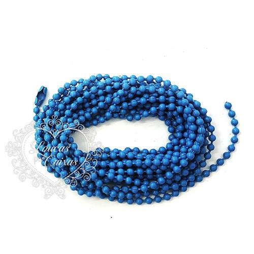 Aljofre em Metal 2,5m - Azul Turquesa