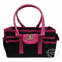 Bolsa Organizadora Preta/Pink Quadrada G..