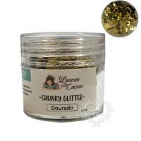Chunky Glitter Dourado Loucas por Caixas..