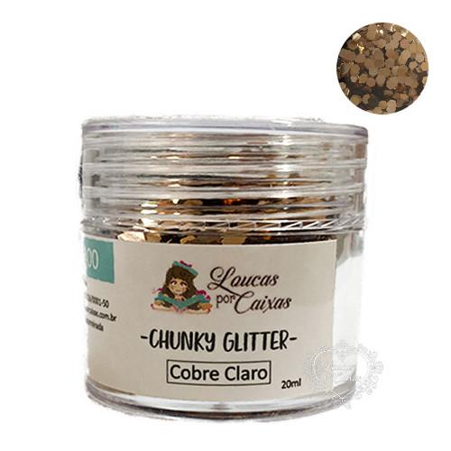Chunky Glitter Cobre Claro Loucas por Caixas