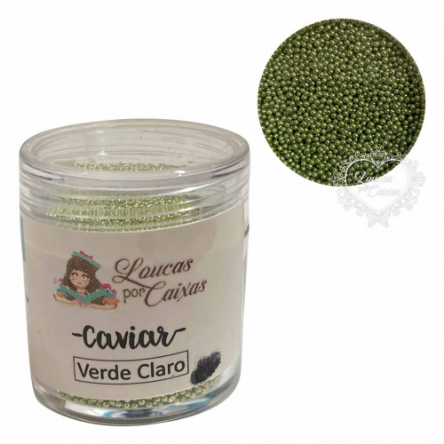 Micro Caviar Verde Claro Loucas por caixas