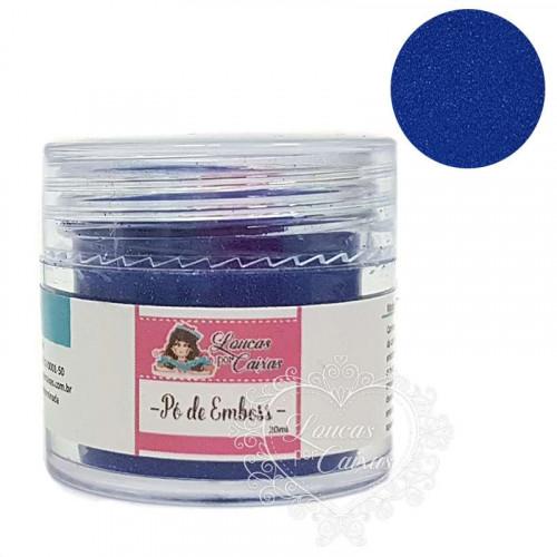 Pó para emboss Azul com Glitter Loucas por Caixas - 20ml