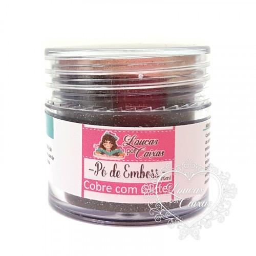 Pó para emboss Cobre com Glitter Loucas por Caixas - 20ml