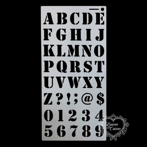 Stencil Alfabeto 2 - 30x15