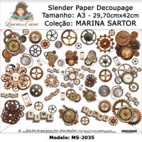Slender Paper Decoupage A3 MS-2035 - Lou..