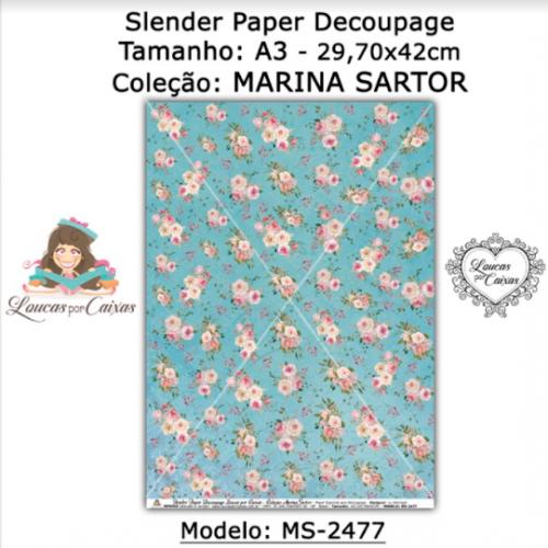 Slender Paper Decoupage A3 MS-2477 - Loucas Por Caixas - Coleção Marina Sartor