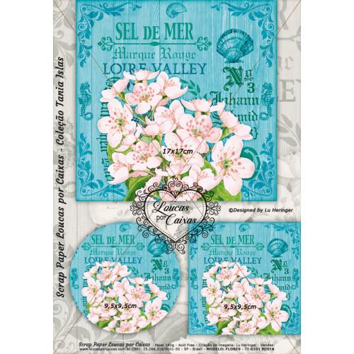 Scrap Paper Loucas Por Caixas TI-0101 Face Única - 29x21cm