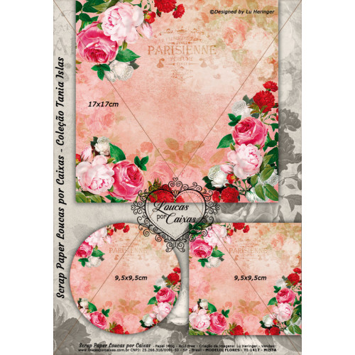 Scrap Paper Loucas Por Caixas TI-1417 Face Única - 29x21cm