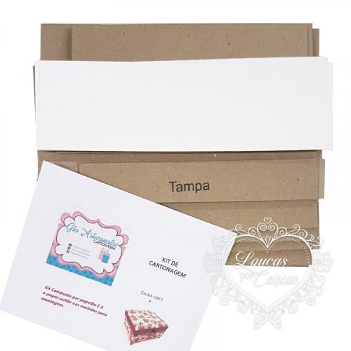 kit cartonagem caixa soft P