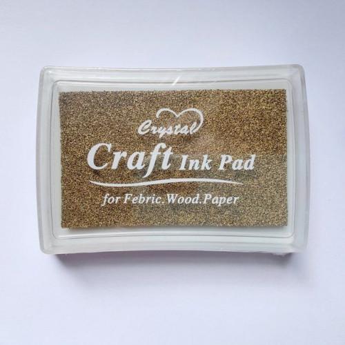 Carimbeira para artesanato - dourada