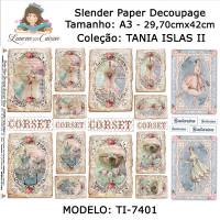 Slender Paper Decoupage A3 TI-7401 - Lou..