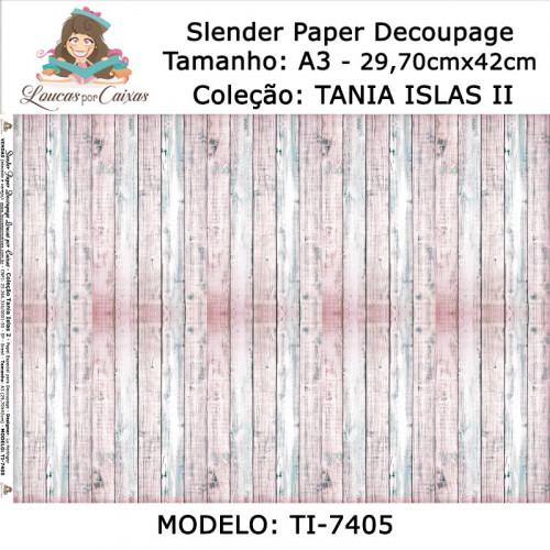 Slender Paper Decoupage A3 TI-7405 - Loucas Por Caixas - Coleção Tania Islas