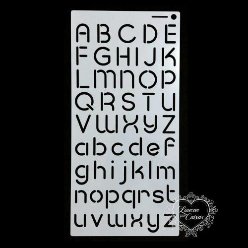 Stencil Alfabeto 3 - 30x15