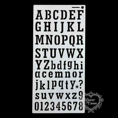 Stencil Alfabeto 4 - 30x15