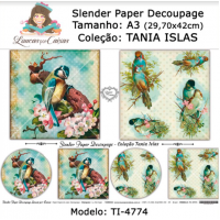 Slender Paper Decoupage A3 TI-4774 - Lou..