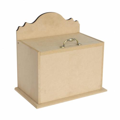 Caixa Porta Treco Com Alça de Metal - 22X14X21