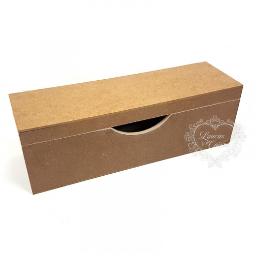 Caixa Flocada para Vinho tampa sapato 10x10x33 - preto