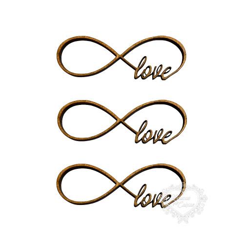 Símbolo Infinito Love - 3 Unid - P