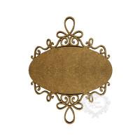 Placa Oval Com Arabescos - M - MDF 3mm..